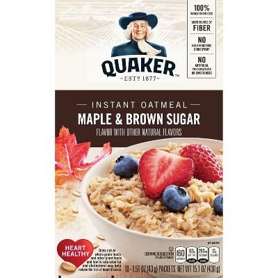 Oatmeal: Quaker Instant