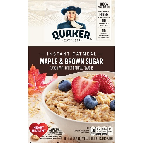 Quaker Instant Oatmeal Maple & Brown Sugar - 10ct - image 1 of 4