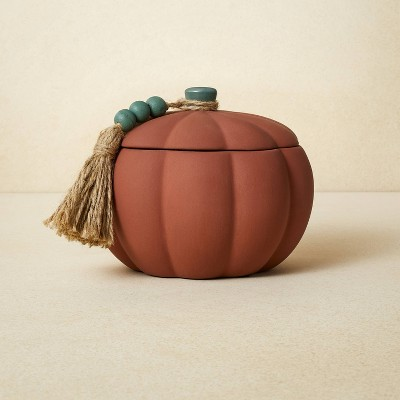 10oz Terracotta Pumpkin Green Candle - Opalhouse™ designed with Jungalow™