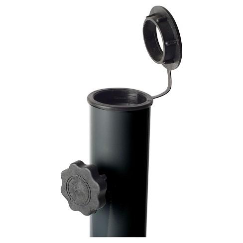 Corliving Gray Black Patio Umbrella Stand Target