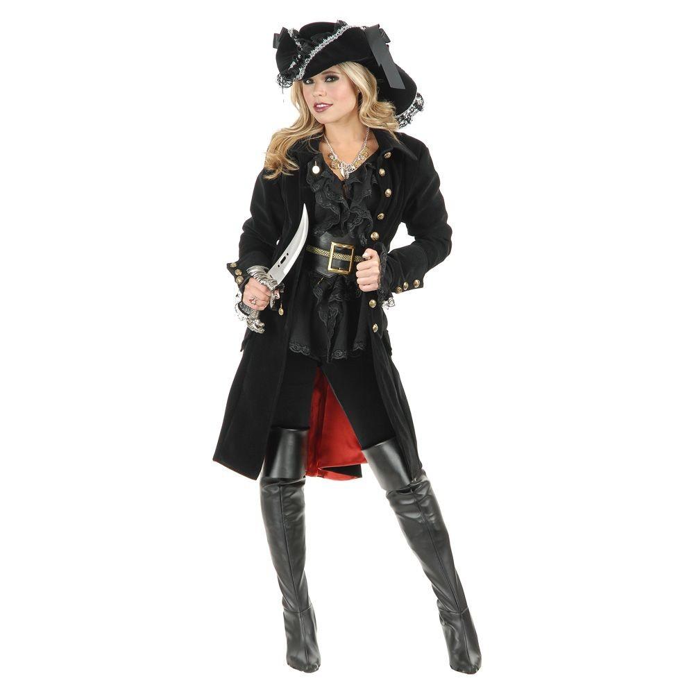 Image of Halloween Pirate Vixen Adult Coat Costume - Medium, Women's