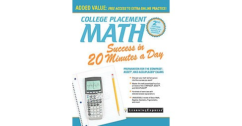 College Placement Math Success in 20 Minutes a Day (Revised / Updated) (Paperback) (Catherine V. Jeremko - image 1 of 1
