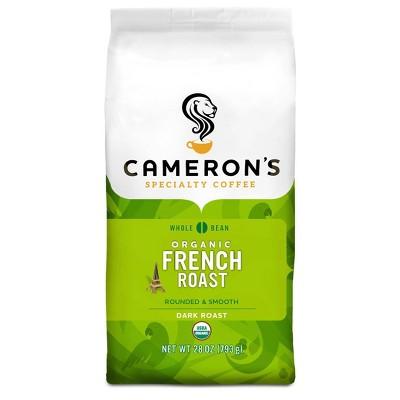 Cameron's Organic French Roast Whole Bean Coffee - 28oz