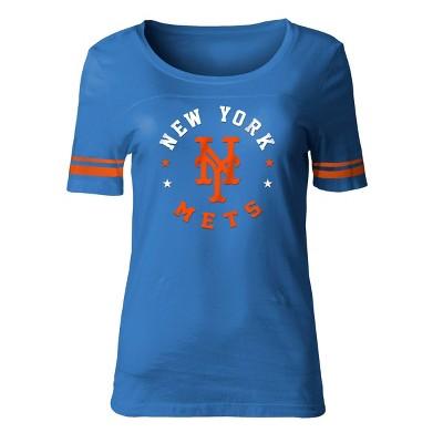MLB New York Mets Women's Poly Rayon Fashion T-Shirt