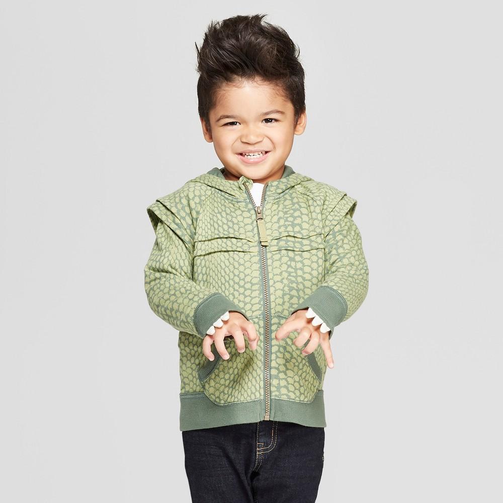 Genuine Kids from OshKosh Toddler Boys' Dinosaur Costume Hoodie - Green 2T