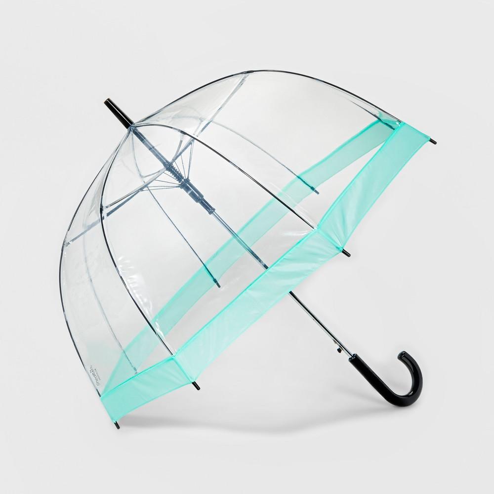 ShedRain Bubble Umbrella - Clear Mint Border
