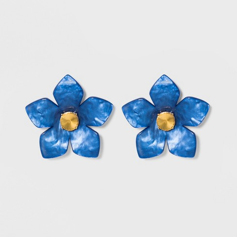 SUGARFIX by BaubleBar Flower Resin Drop Earrings - image 1 of 3