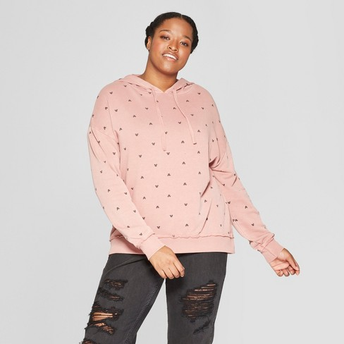 7fcbb5e6ac7 Women s Mickey Mouse Plus Size Sweatshirt - Junk Food (Juniors ) Pink