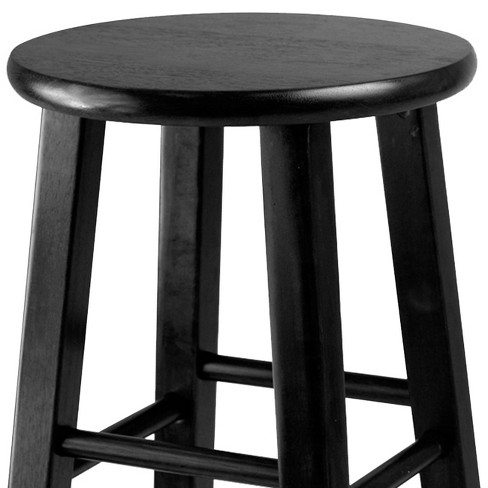 24 Pacey 2pc Bar Stool Set Black Winsome Target