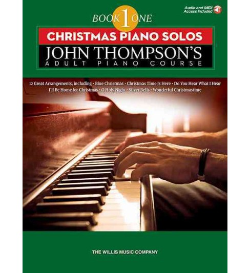 Christmas Piano Solos : Elementary Level - Includes Downloadable Audio (Paperback) - image 1 of 1