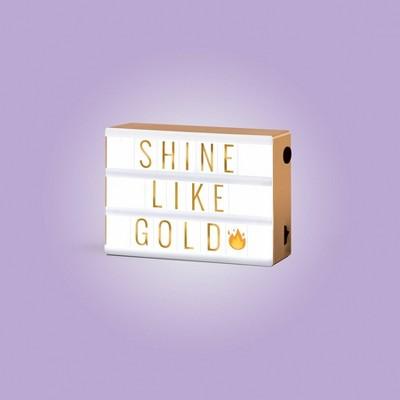 Mini LED Light Box White/Gold - West & Arrow