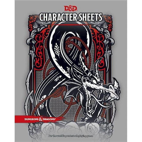 D&D Character Sheets - (Dungeons & Dragons) (Paperback) - image 1 of 1