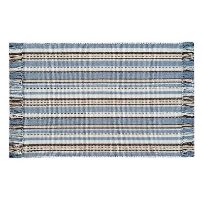 3'x5' Rectangle Stripe Accent Rug Blue - C&F Home