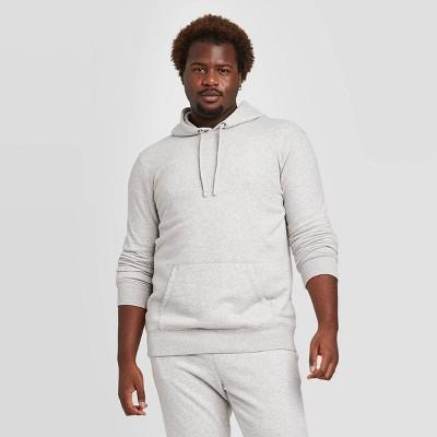 Men's Big & Tall Regular Fit Fleece Pullover Hoodie Sweatshirt - Goodfellow & Co™ Light Gray