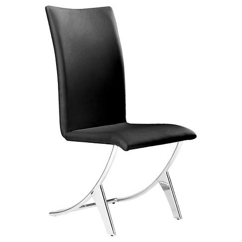 Modern Chromed Steel Tube Dining Chair (Set of 2) - ZM Home - image 1 of 4