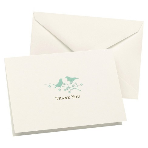 Love Birds Wedding Thank You Cards (50ct) - image 1 of 1