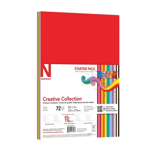 """Premium Cardstock Starter Pack 72 Sheets 8.5"""" x 11"""" - Neenah Creative Collection - image 1 of 4"""