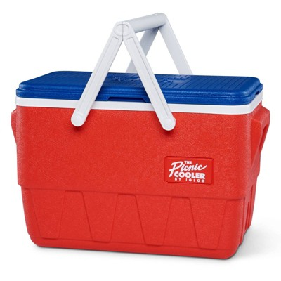 Igloo Retro Picnic Basket Cooler - Red