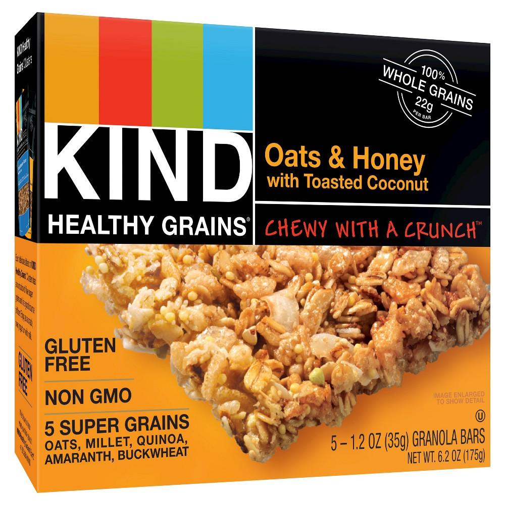 Kind Healthy Grains Oats & Honey, Gluten Free Granola Bars - 5ct