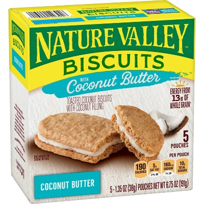 Nature Valley Coconut Butter Biscuits - 5ct