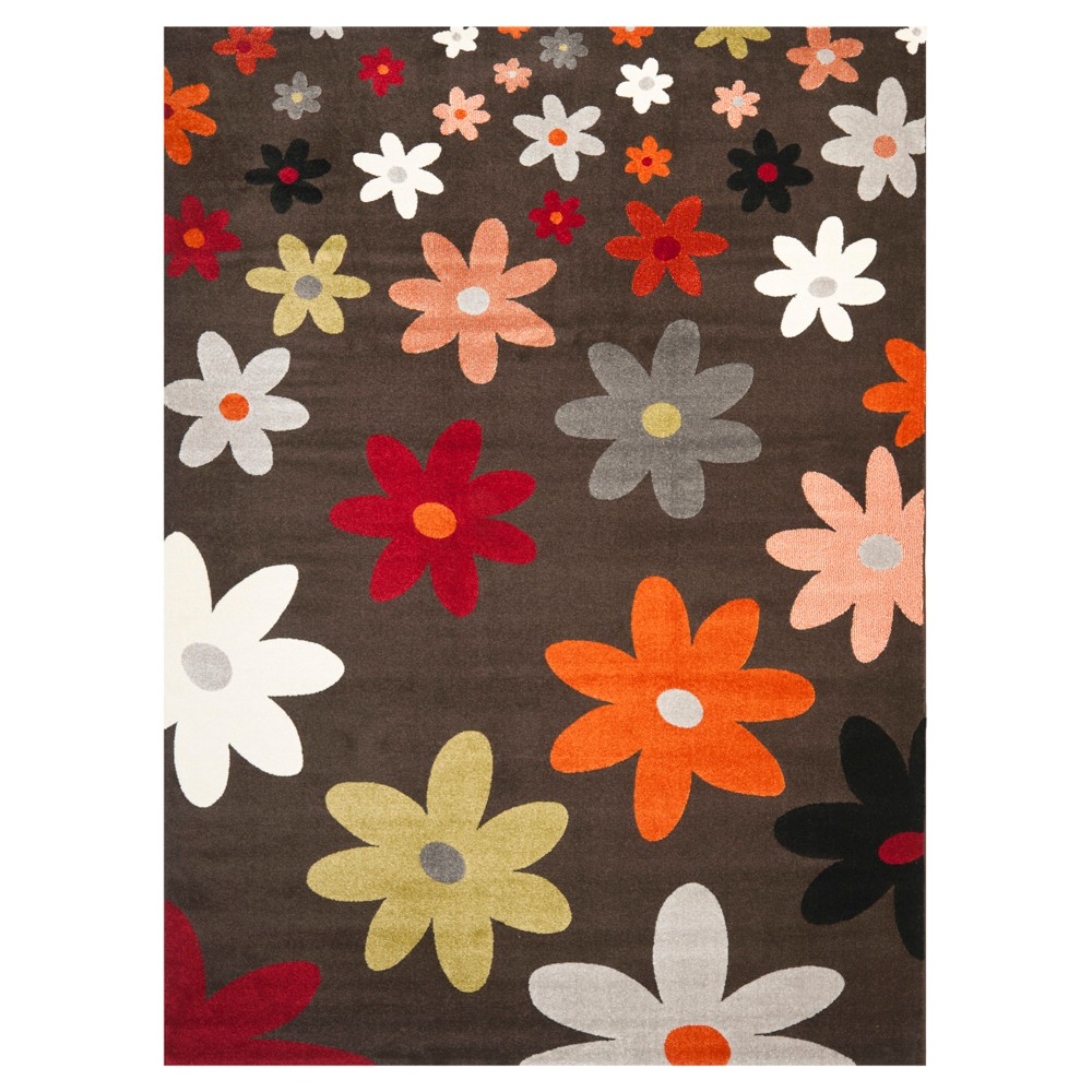 Izzy Area Rug - Brown / Multi ( 6' 7
