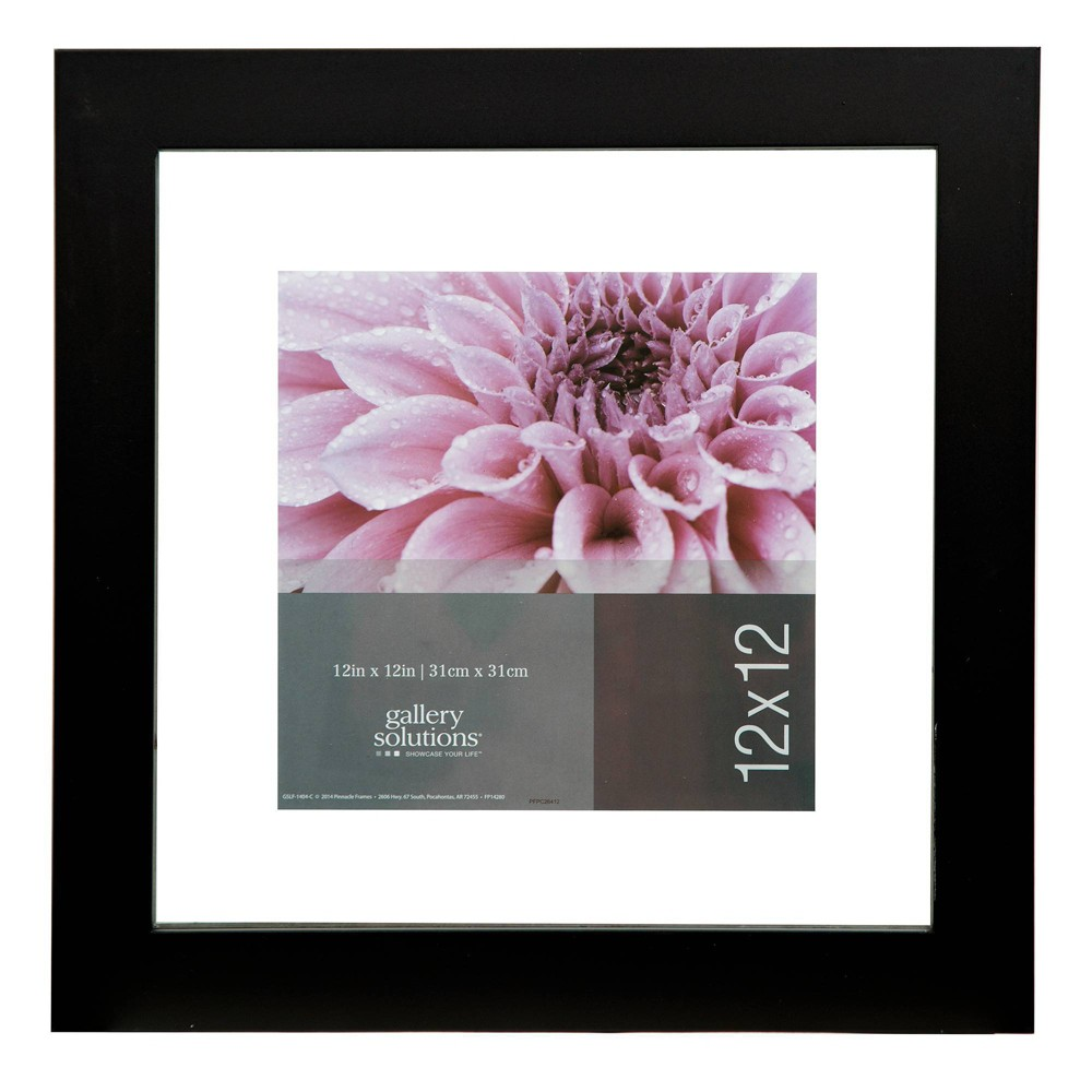 """Image of """"12"""""""" x 12"""""""" Float To 8"""""""" x 8"""""""" Wide Frame Black - Gallery Solutions"""""""