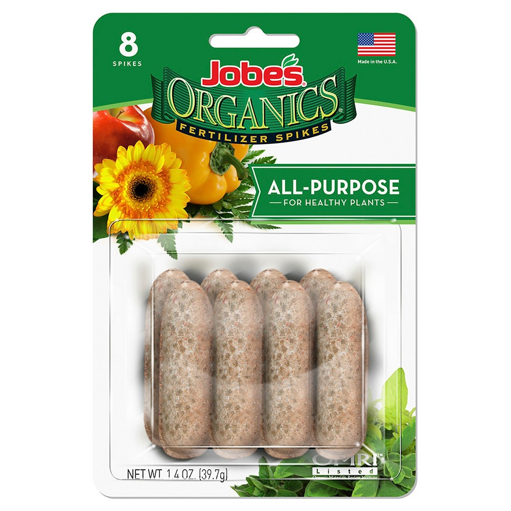 Image of Organic All Purpose Fertilizer Spikes - 8 ct - Jobes