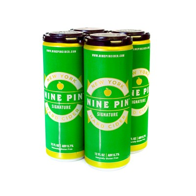 Nine Pin Signature Cider - 4pk/16 fl oz Cans