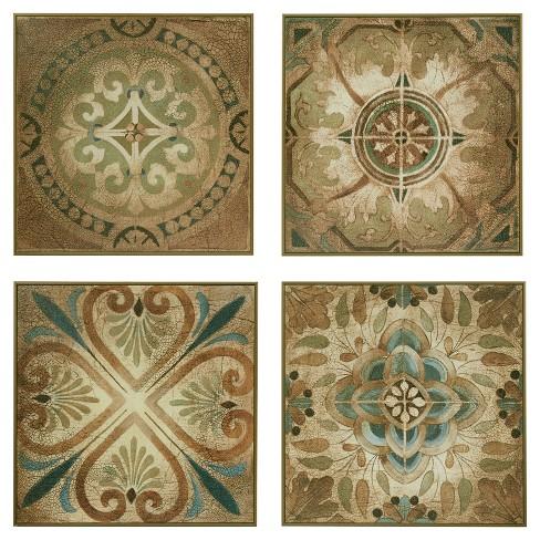 Bella Blue Tiles Deco Box 4pc Set 18.11 X 18.31 X 9.5 - Trends International - image 1 of 7