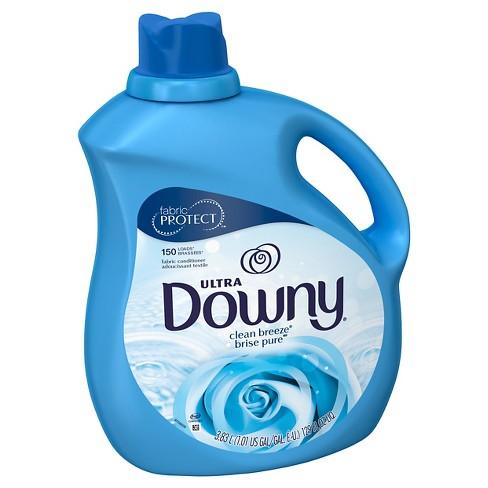 Downy Ultra Clean Breeze Liquid Fabric Conditioner - 129 fl oz - image 1 of 3