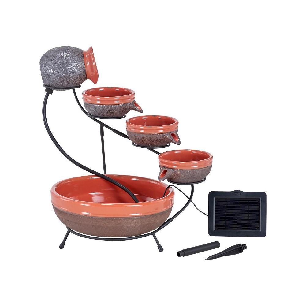 Smart Living 22 Tangerine Solar Cascade Fountain, Orange