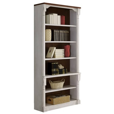 "94"" Durham Open Bookcase White - Martin Furniture"
