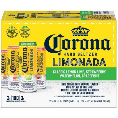 Corona Hard Seltzer Limonada Variety Pack - 12pk/12 fl oz Slim Cans