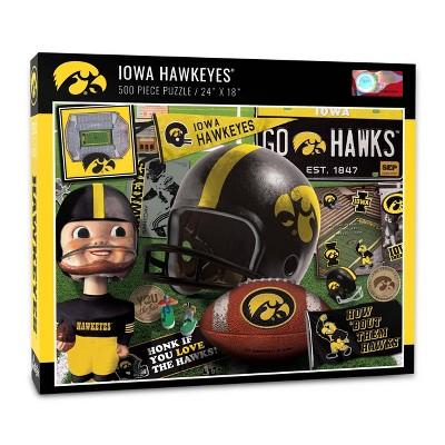 NCAA Iowa Hawkeyes Throwback Puzzle 500pc