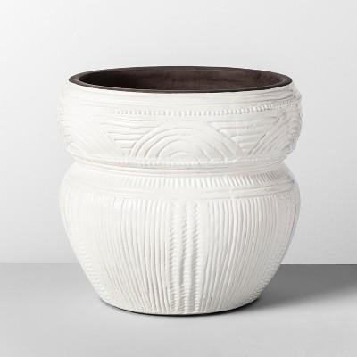 9.7  x 9  Etched Terra Cotta Planter White - Opalhouse™