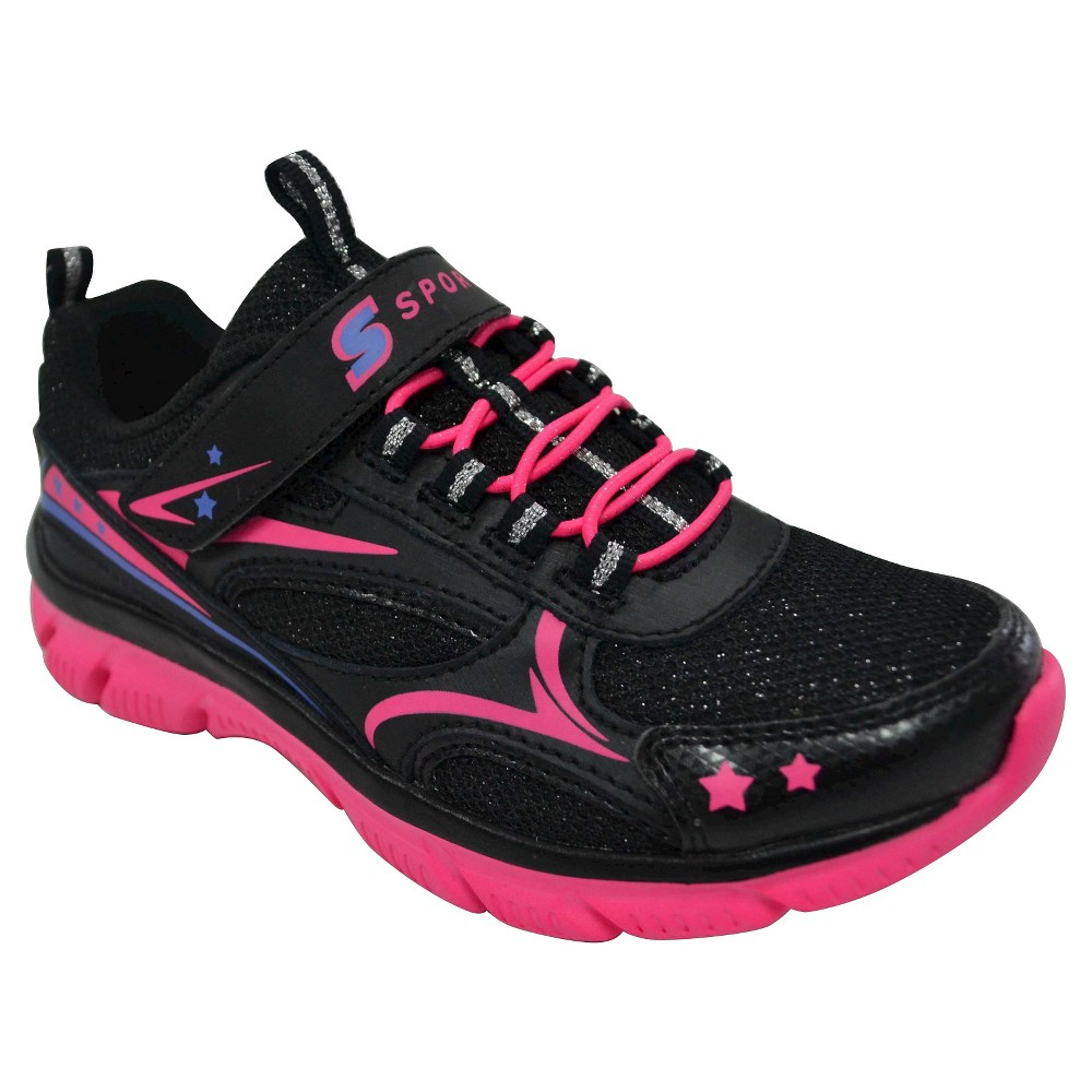 Girls' S Sport by Skechers Sunburst 2.0 Performance Athletic Shoes - Black 3