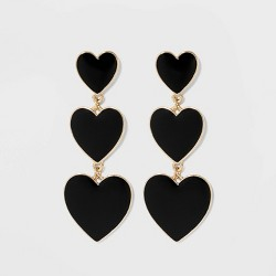 SUGARFIX by Baublebar Graduating Heart Drop Earrings
