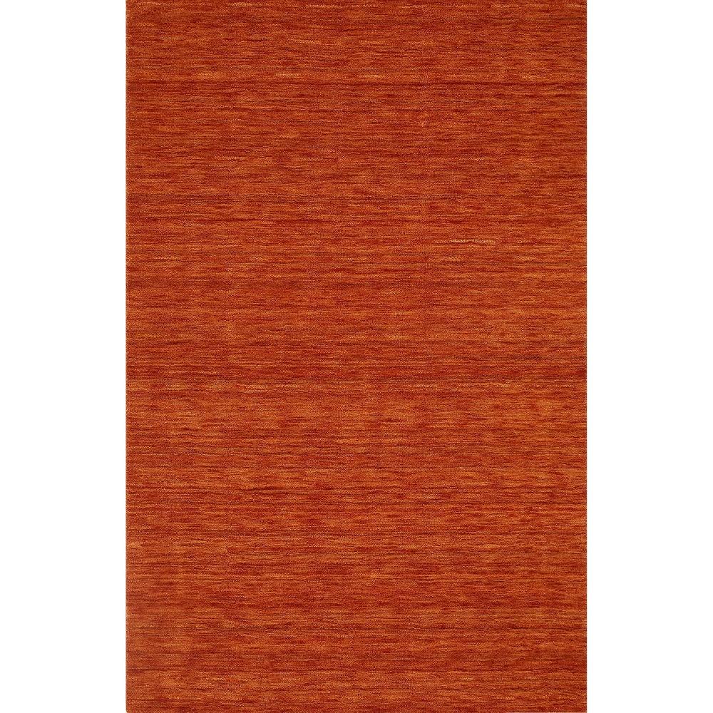 8'x10' Tonal Solid 100% Wool Area Rug Mandarin (Orange) - Addison Rugs