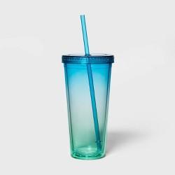 24oz Plastic Ombre Tumbler with Straw - Sun Squad™