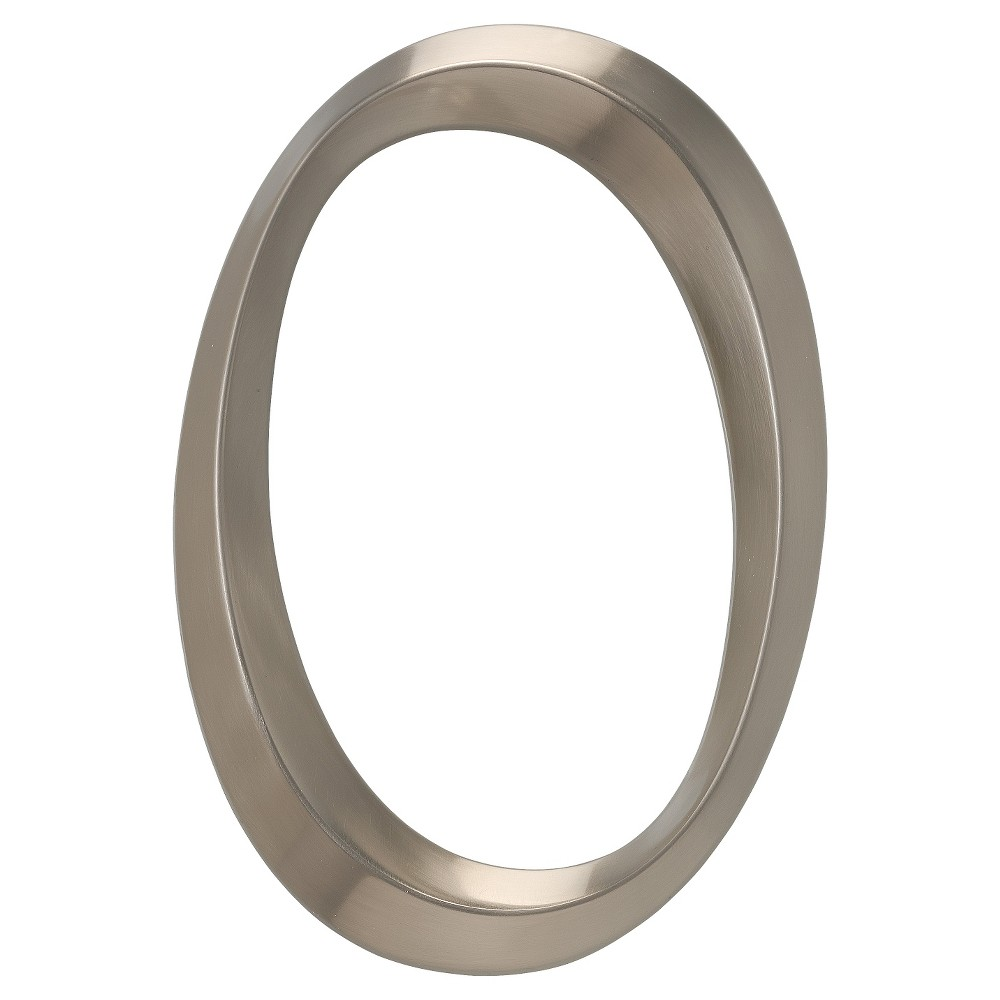 6 Classic House Number 0 - Polished Nickel - Whitehall Products