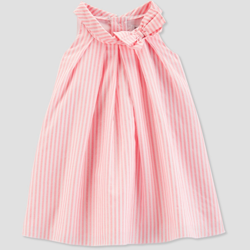 Toddler Girls' Stripe Dress - Just One You made by carter's Bubbly Pink 4T