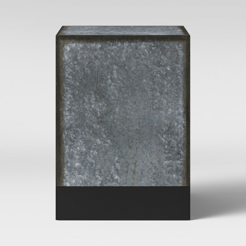 Hawley Galvanized Square End Table - Threshold™ - image 1 of 3