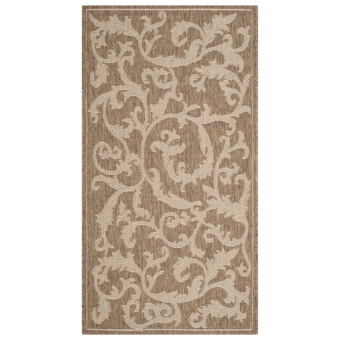 "Savoy Outdoor Rug - Brown / Natural (6'7"" X 9'6"") - Safavieh - image 1 of 3"