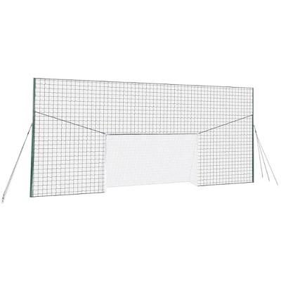 Open Goaaal JX-OGFS1 Adjustable Soccer Practice Net Rebounder Backstop with Training Goal, Standard Size