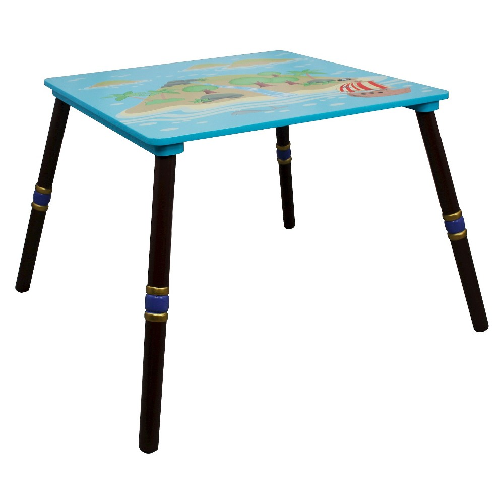 Image of Fantasy Fields Pirates Island Table Wood - Teamson