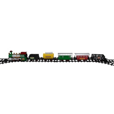 Northlight 18-Piece Black and Green Battery Operated Animated Classic Model Train Set