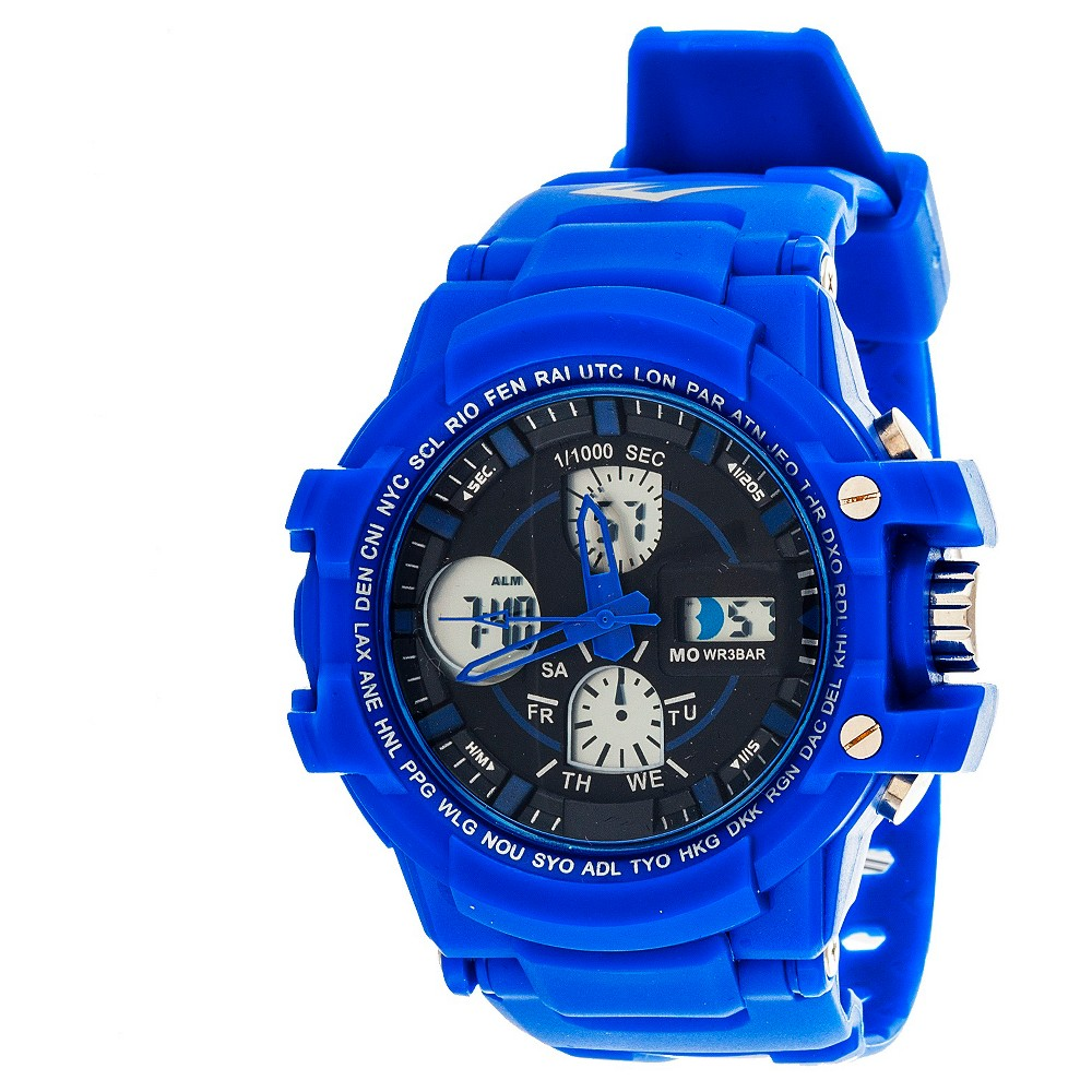 Image of Everlast Men's Analog and Digital Watch Blue, Men's, Size: Small