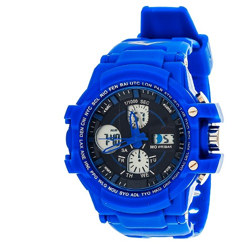 Everlast® Men's Analog and Digital Watch Blue - image 1 of 1