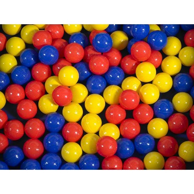Children's Factory Ball Pit Balls, 2-3/4 Inches, Assorted Colors, Case of 500