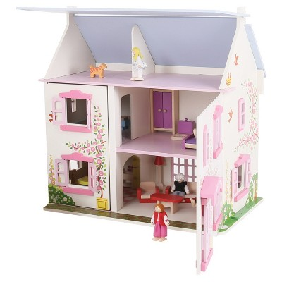 Bigjigs Heritage Playset Sunflower Cottage 33 Piece Doll House Years 3